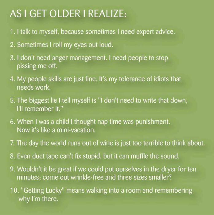 As I Get Older