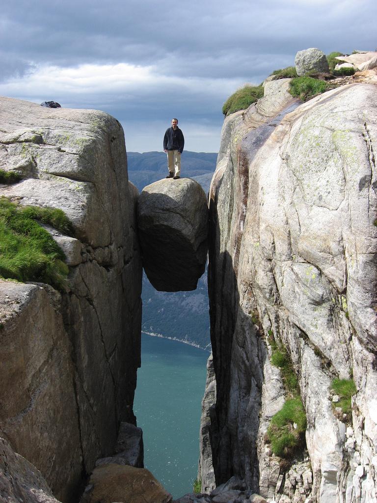 idiot on a rock