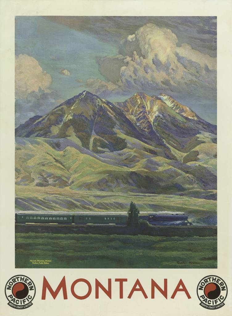 gustav-krollmann-in-1935-this-vintage-travel-poster-promotes-the-northern-pacific-railway-featuring-absaroka-mountains-montana-752x1024